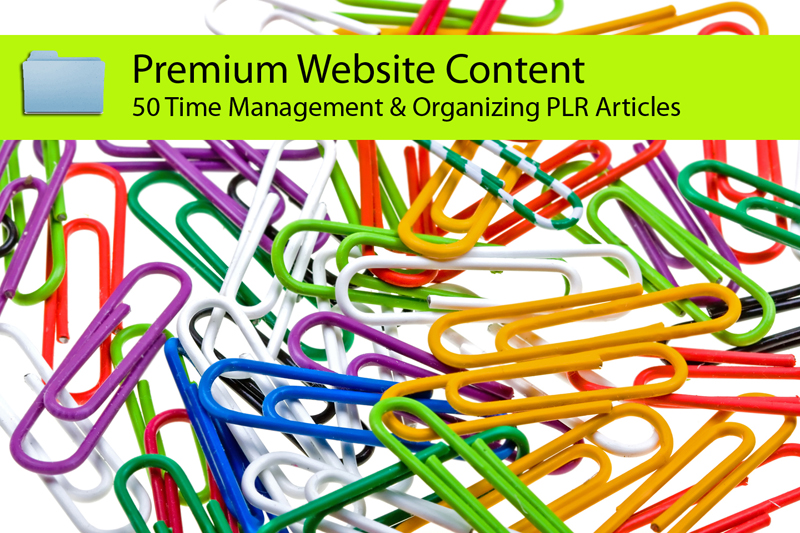 Send you 50 Time Management and Organizing PLR Articles