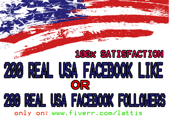 give you 200 USA Facebook likes