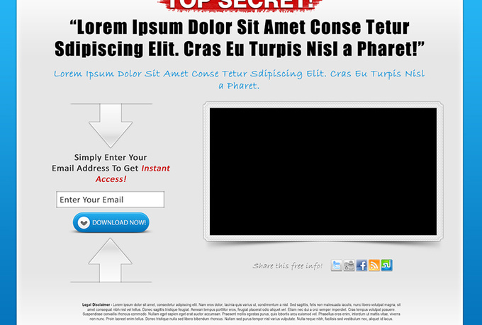 Send You 118 Landing Pages Squeeze Pages