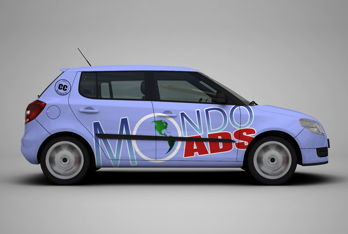 put any logo, text, graphic or design in a 3D car