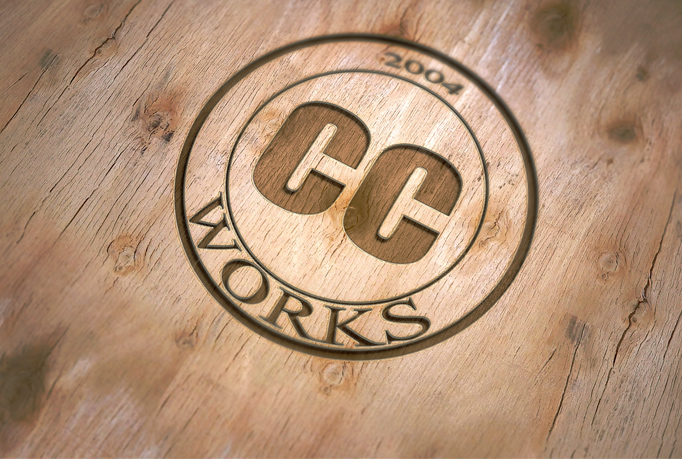 create a 3D wood engraving with any logo