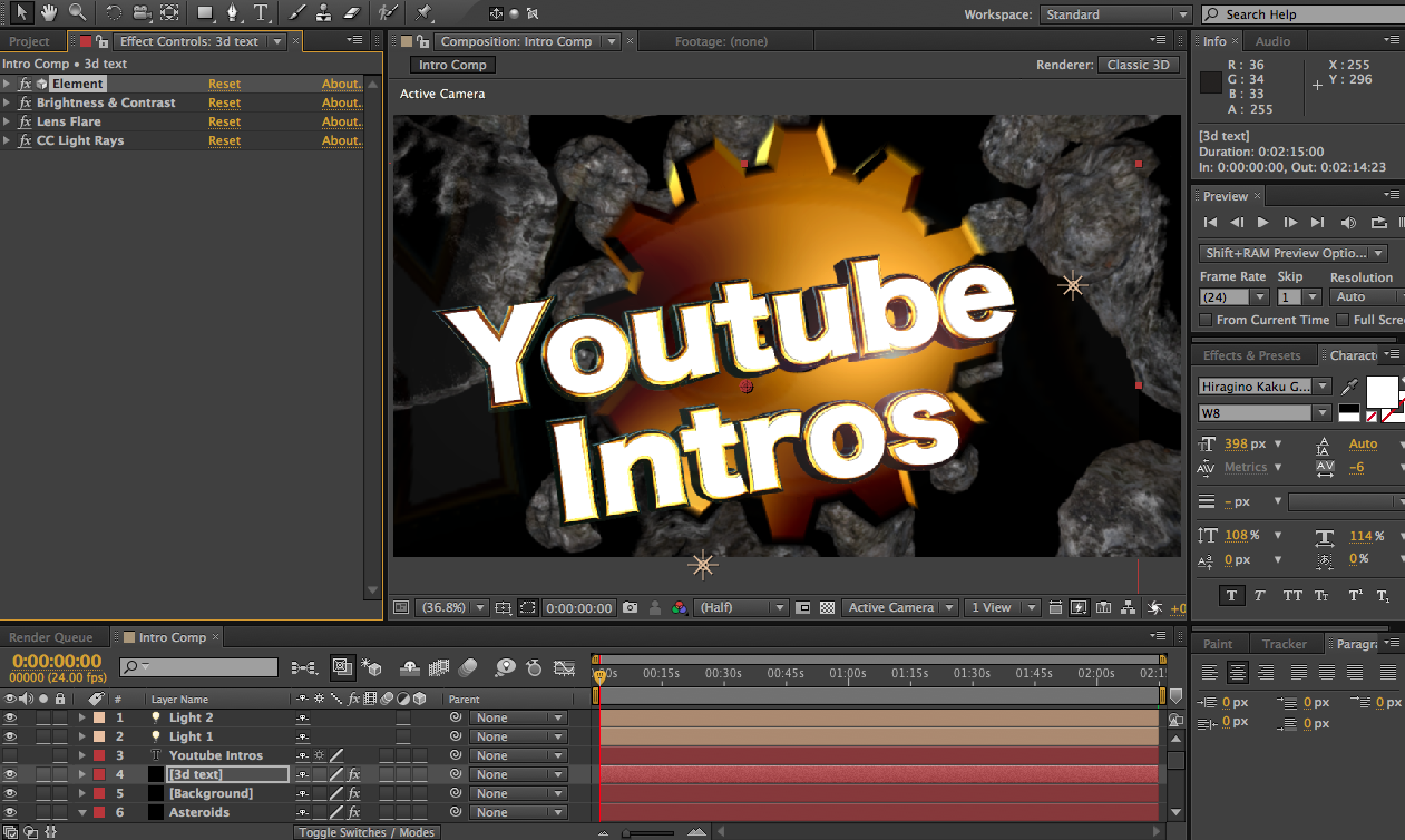create a short intro for your youtube videos