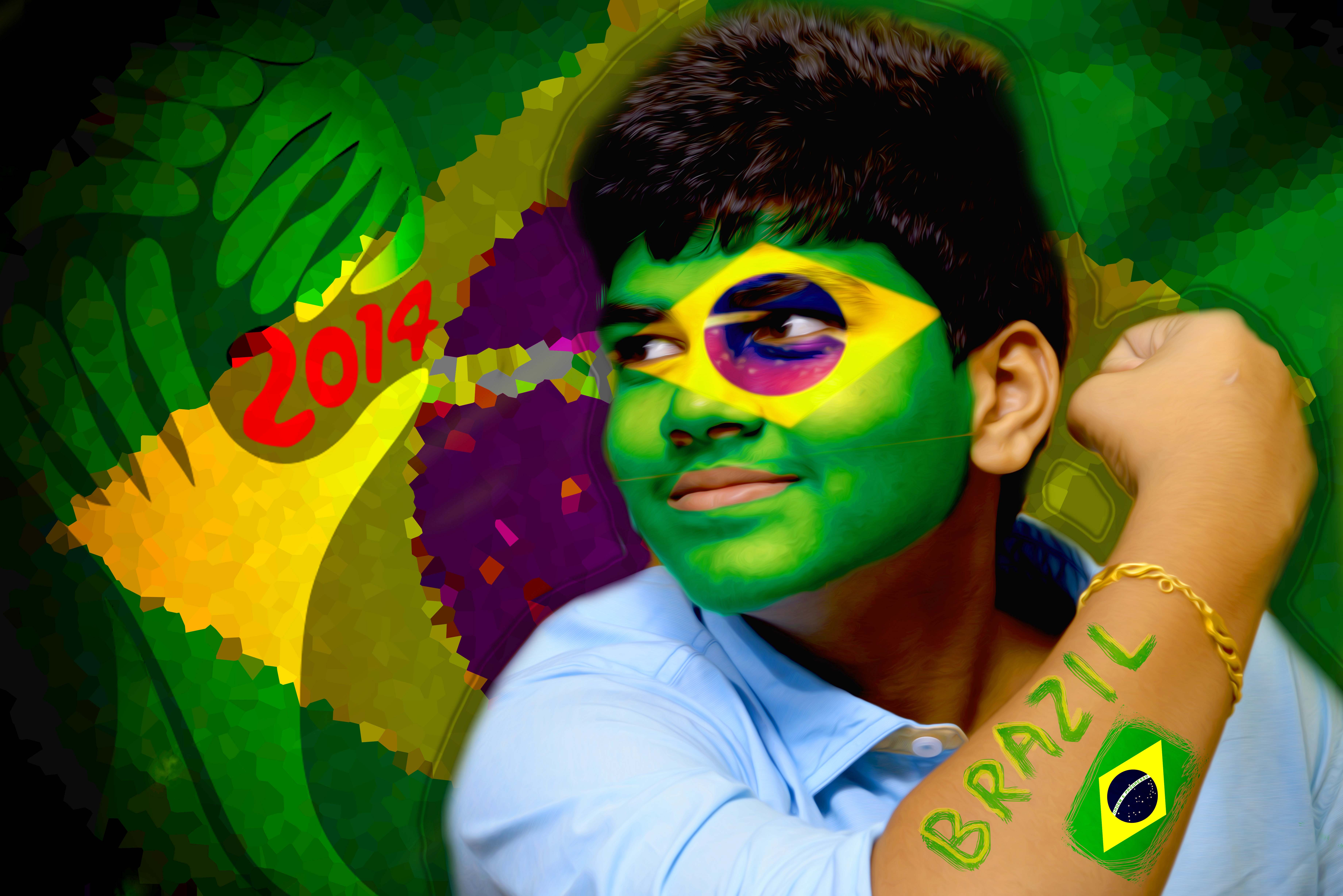facepaint any FIFA worldcup country flag