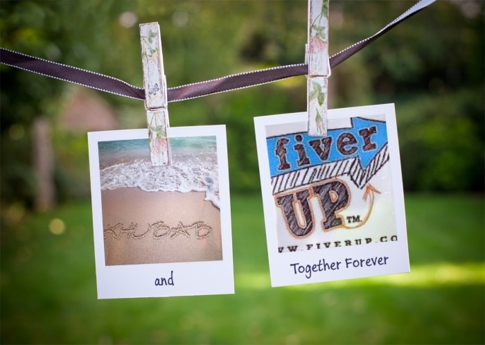 add your photos on wire with clothespins