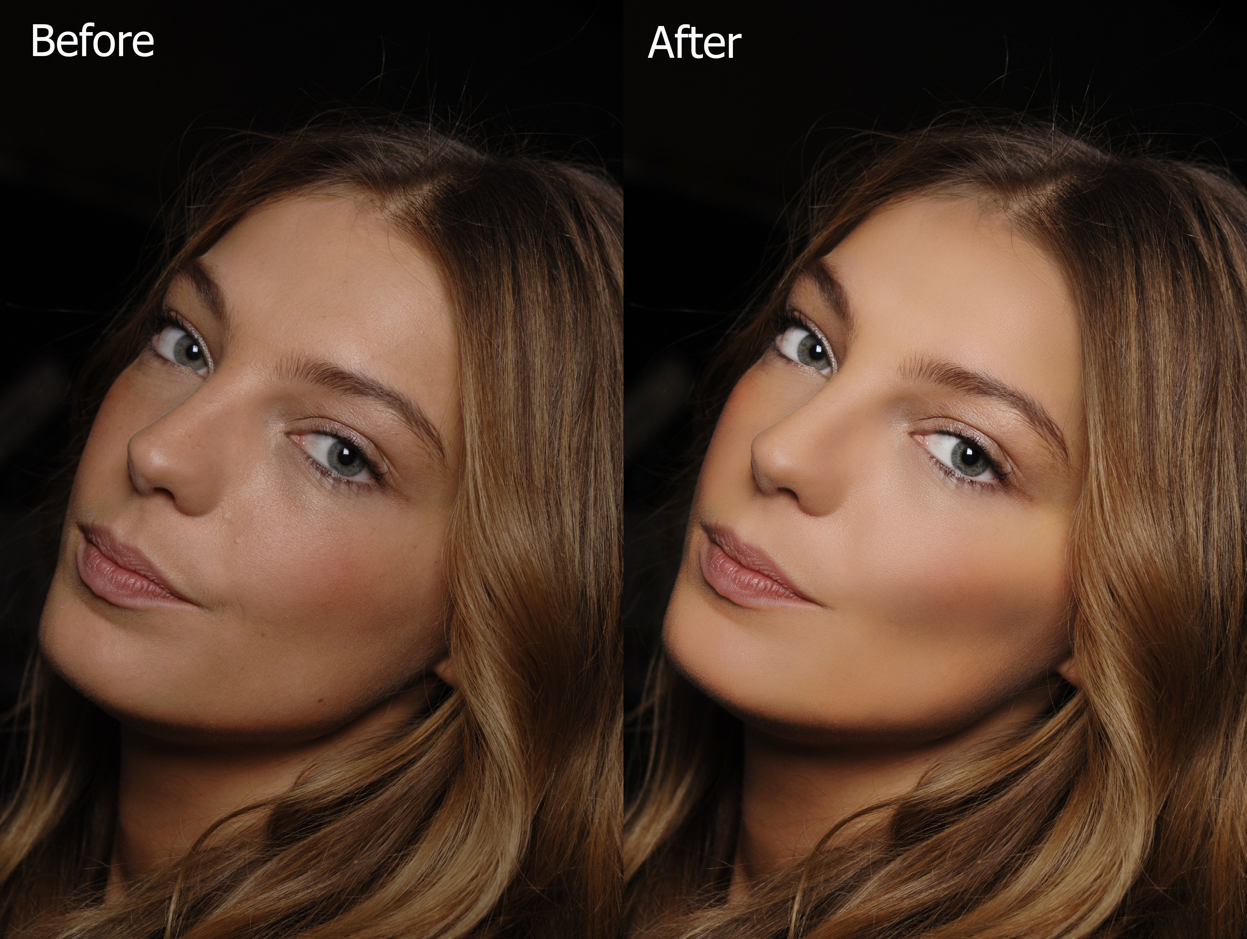 professionally retouch 2 images