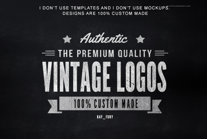 design an ORIGINAL Retro Vintage Logo