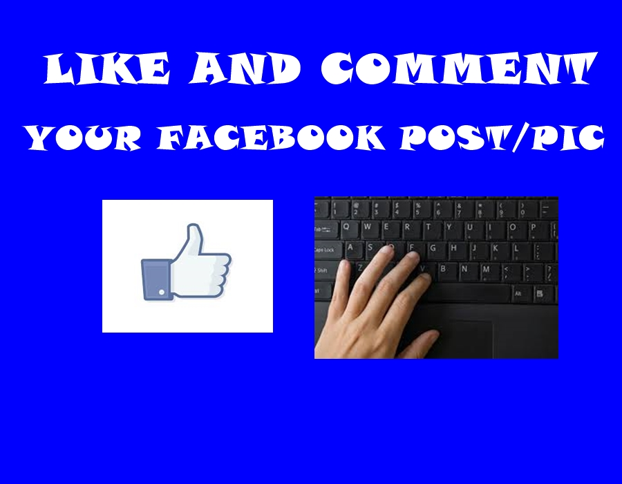 comment and like your Facebook Post/Photo/...