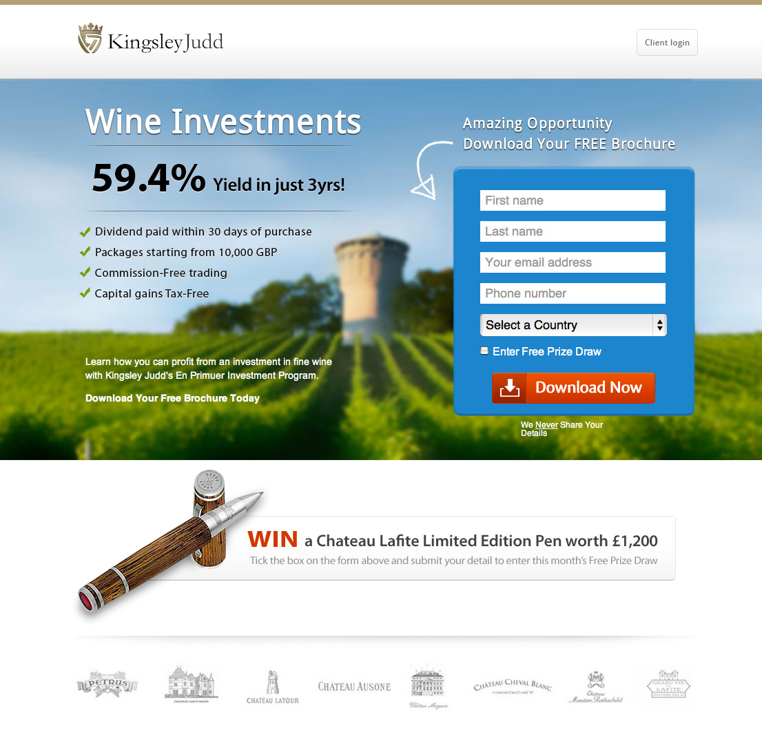 design a professional one page responsive landing page