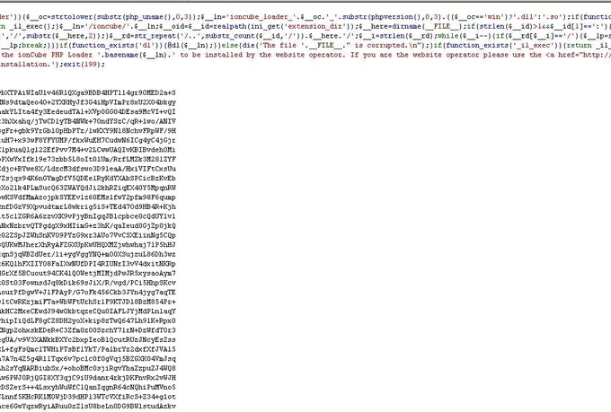 decode or decrypt your ioncube encoded files