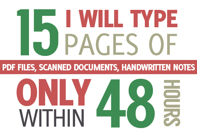 type down your documents