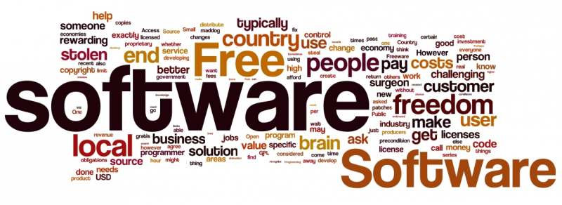 give you a list of 100 percent legal free software