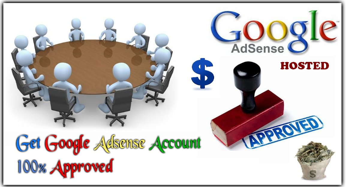 provide a Fully approved hosted Google AdSense account