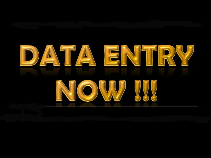 do copy and paste or any other type of data entry job
