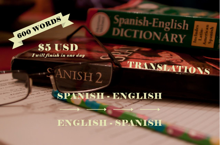 translate 600 words from spanish to english and viceversa