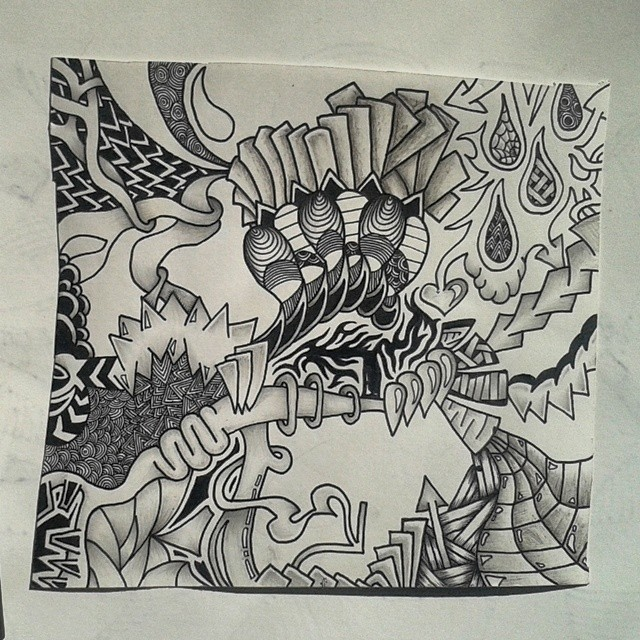 draw a very detailed doodle (15cm x 20cm)