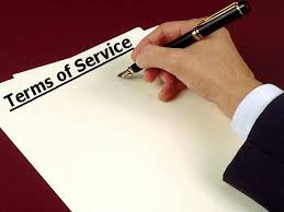 write a terms and service agreement for your website