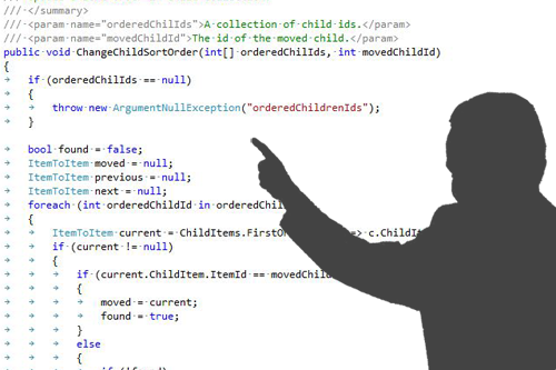review your mobile application source code