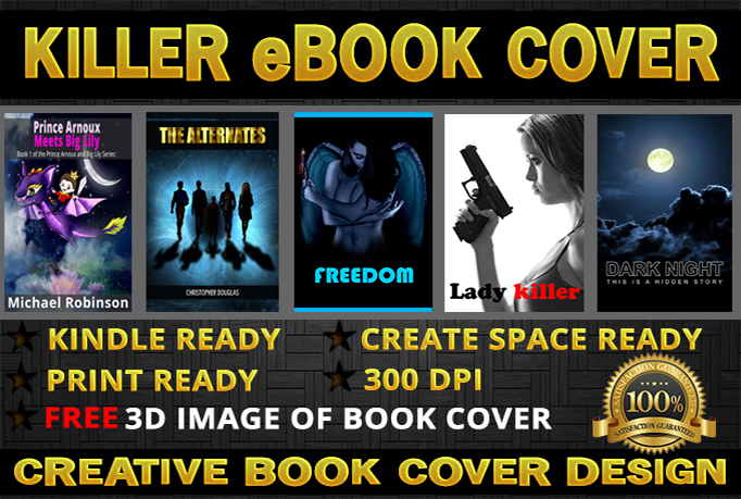 design professional an Eye Catching unique eBook or Kindle Cover