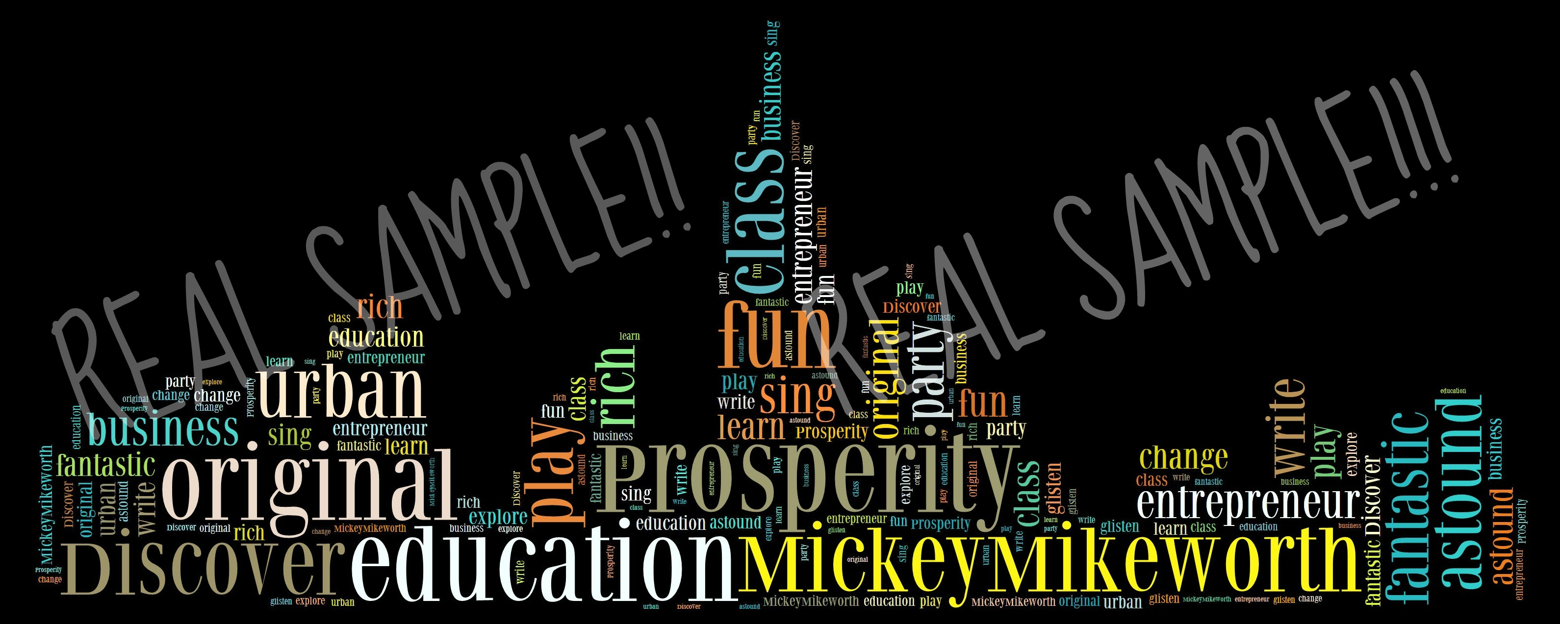create a word art for you