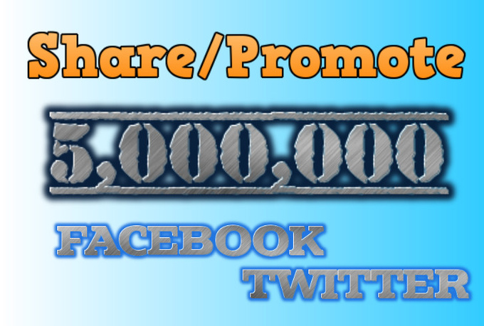 post your message and link to 5000000 Facebook Twitter