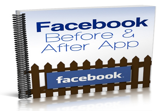 send book Facebook before and after the application