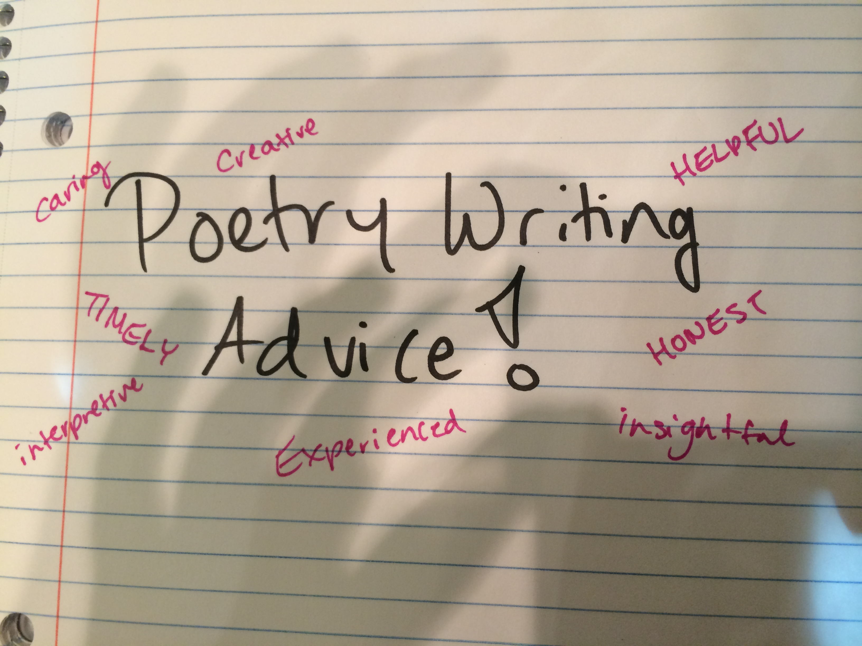 provide insightful commentary to improve your poetry