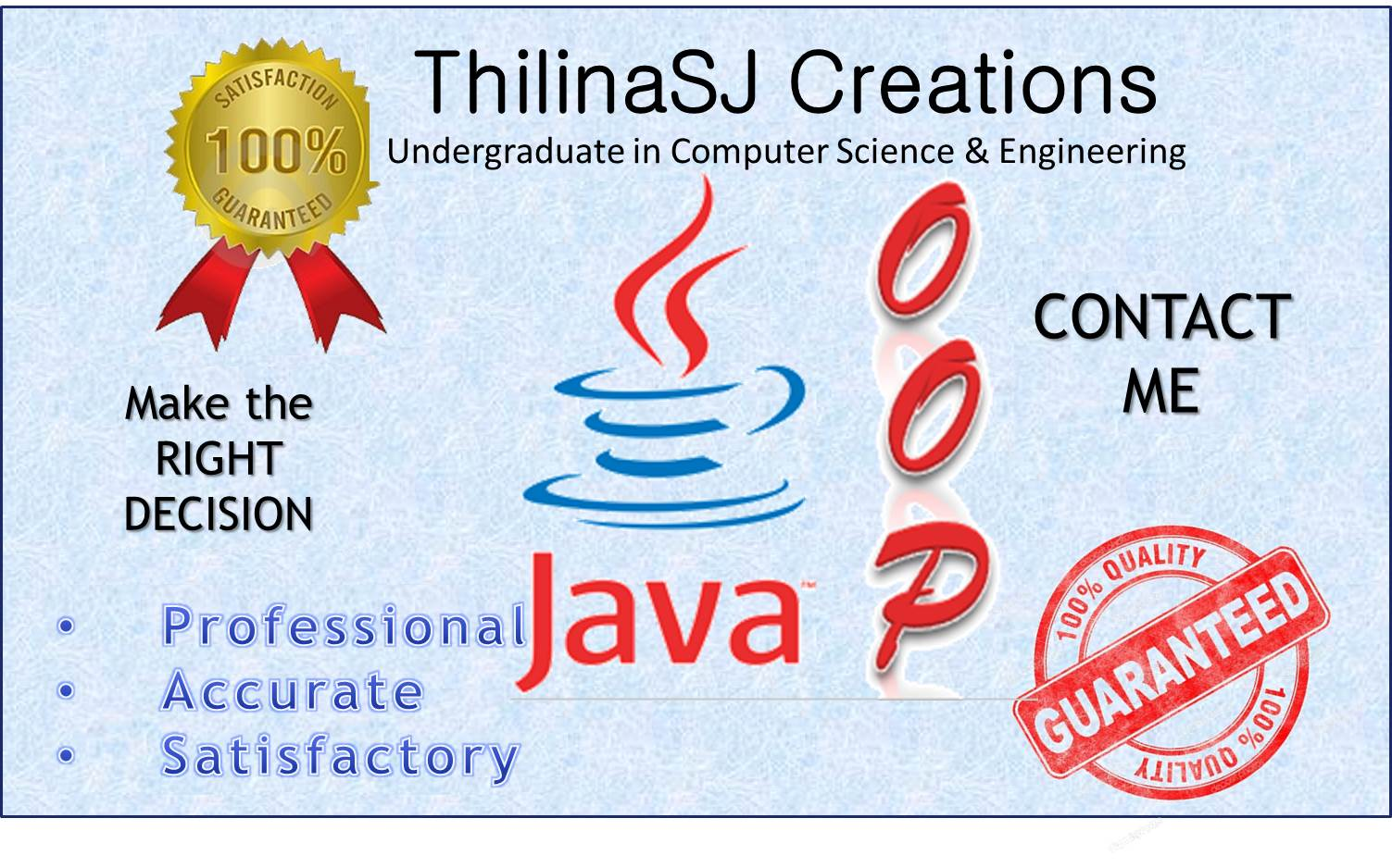 do your Object Oriented Java Assignments
