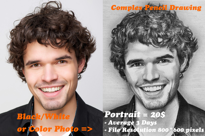 create your photo become an impression pencil drawing portrait