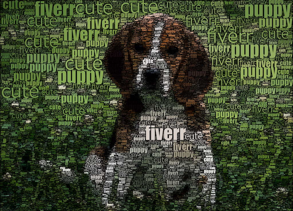 turn any of your photos into an image made from words of your choice