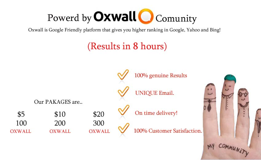 do100 High Pr Oxwall Links to your website