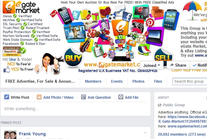 promote your product or page to above 1MILLION active people on facebook groups