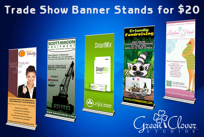 create your next trade show banner stand design