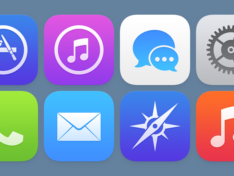 design any IOS version icon for APP
