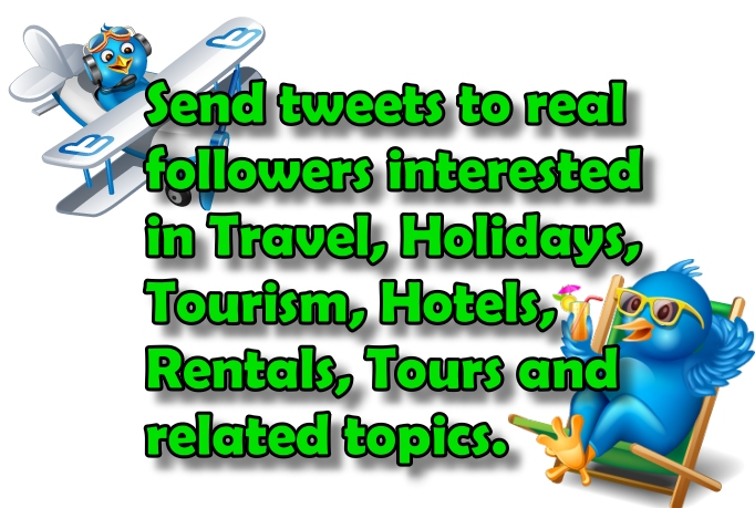 tweet 10 times to 65.7K interested in Travel topics
