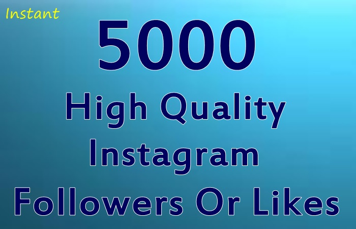 Add 5000 High Quality Instagram Followers Or Likes Instantly