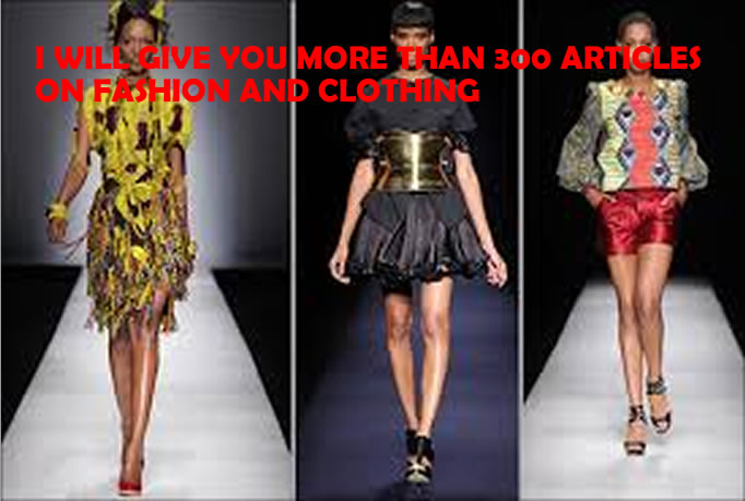 Give You More Than  350 High Quality Articles On Fashion And Clothing