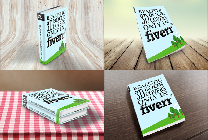 a realistic 3D book cover