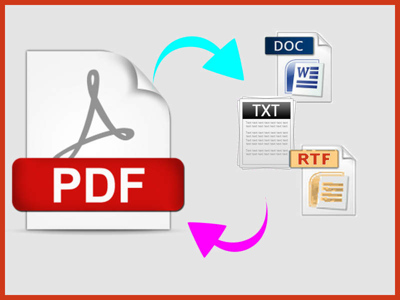 transcribe PDF into other formats and viceversa