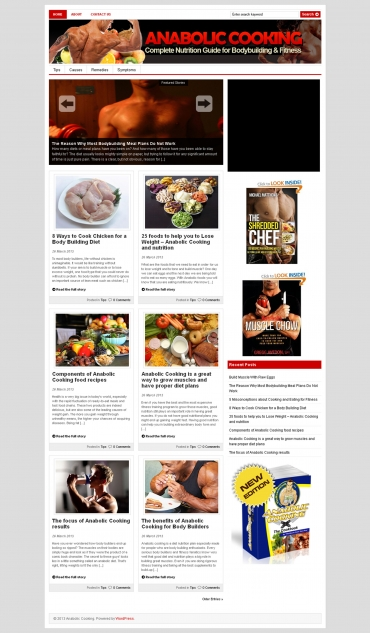 give you Anabolic Cooking PLR Niche Blog