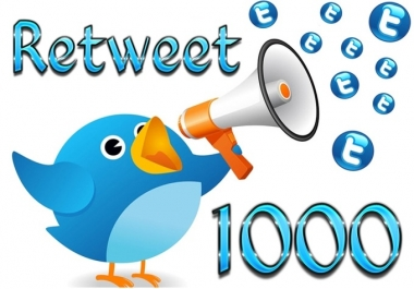 give you 1000 Genuine USA Retweets on up to 5 your tweets for great Ads promote