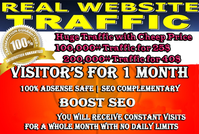 25000 Google Analytic Trackable TRAFFIC