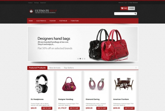 develop online ecommerce shopping website