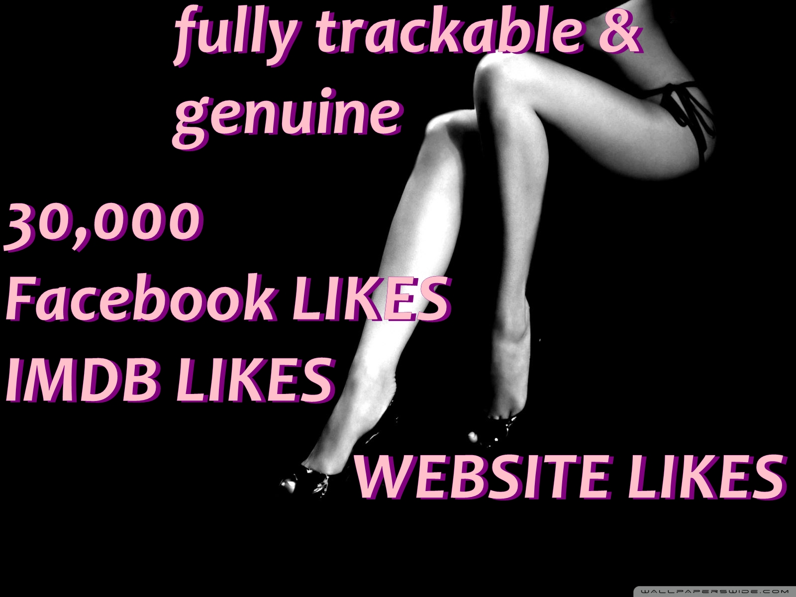 give more than 30000 imdb fabebook and wesite likes