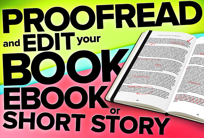 proofread and edit your document, book or story