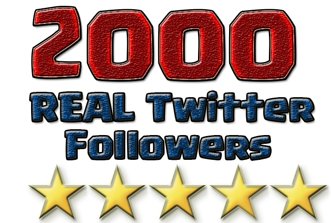promote you 2000 Twitter Followers
