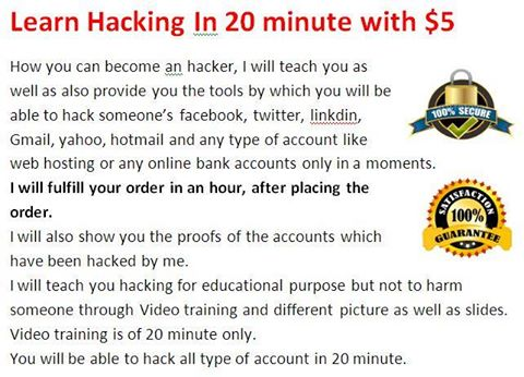 Teach and Provide Hacking Tools
