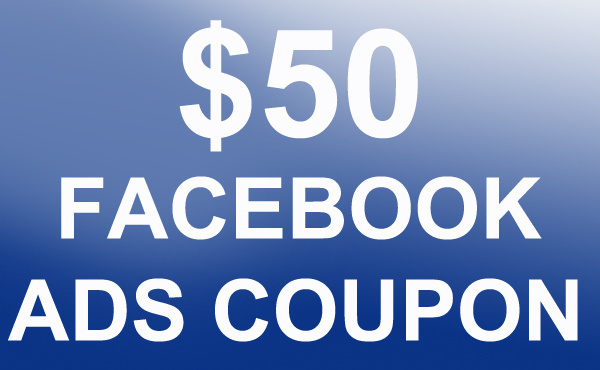 Give you 50USD coupon for facebook advertising