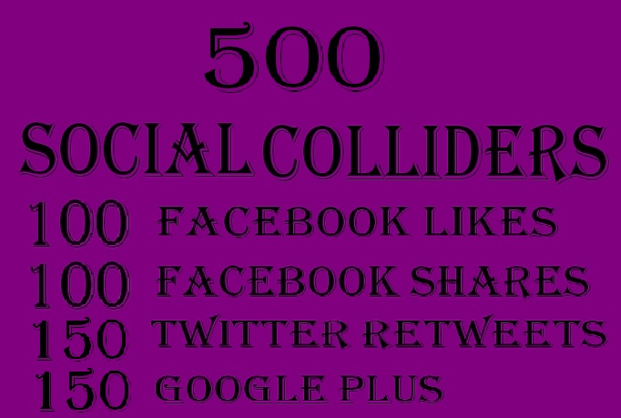 provide 500 social signals for your website