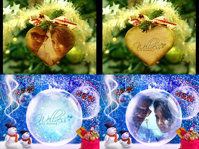 edit Your Logo Or Photo In Many Christmas Globes
