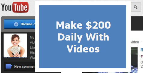 show you how to make $200 daily with videos